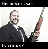 His home is safe