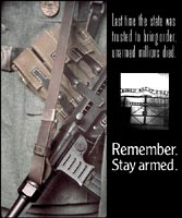 Remember what happens to unarmed people