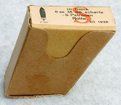 Box of ammunition dated 1938