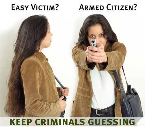 Easy victim?  Or armed citizen?  Keep criminals guessing!