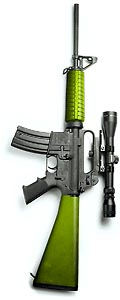 Lime-green AR15